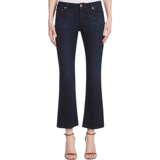 MICHAEL Michael Kors Womens Flare Jeans Slim Fit Denim