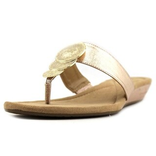 Alfani Womens Fleurr Open Toe Casual Slide Sandals