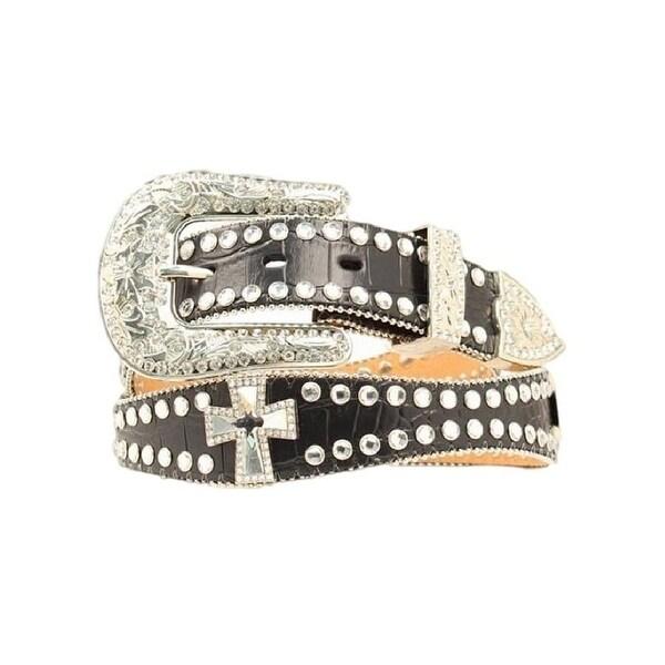 Blazin Roxx Western Belt Womens Scallop Crystals Black