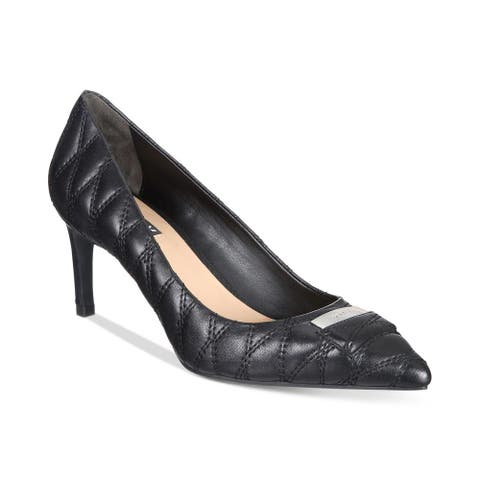 DKNY Womens Evie Leather Pointed Toe Classic Pumps