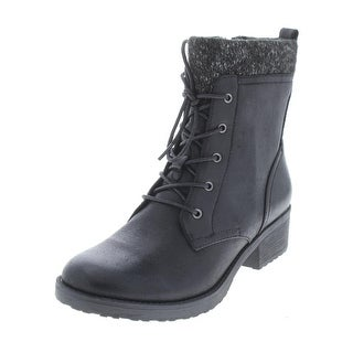 Baretraps Womens Onnabeth Combat Boots Faux Leather Marled