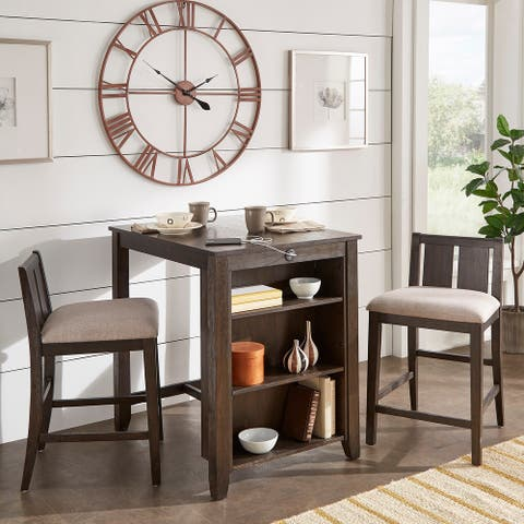 Beck Counter Height 3-Piece Dining Set with USB Charging Station by iNSPIRE Q Classic