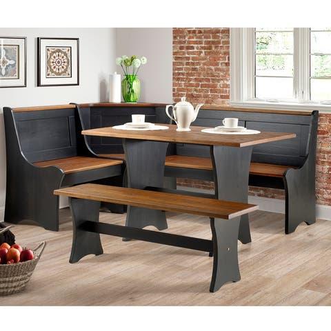 The Gray Barn Hillcrest 3-piece Storage Nook Set