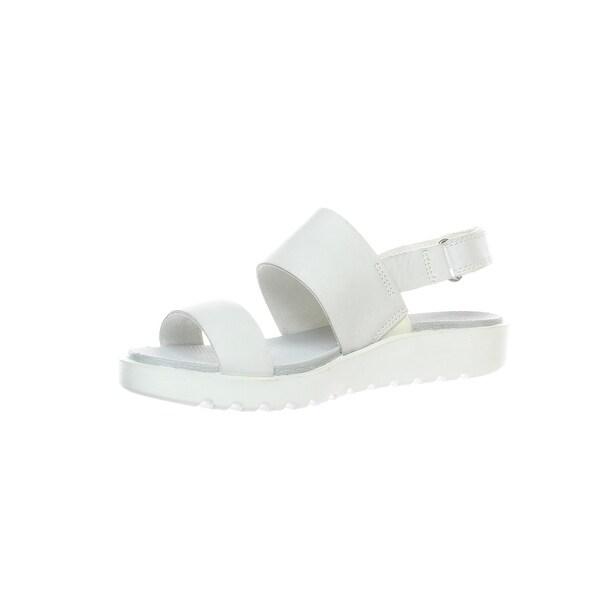 ECCO Womens Freja White Sandals Size