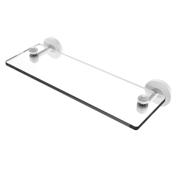Allied Brass South Beach Collection Glass Vanity Shelf with Beveled Edges