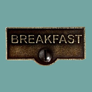 Switch Plate Tags BREAKFAST Name Signs Labels Cast Brass