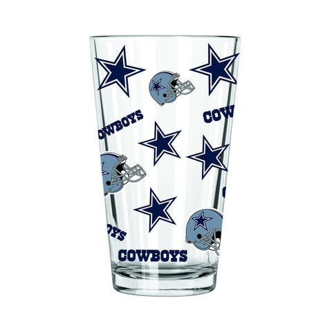 Dallas Cowboys All Over Print Pint Glass