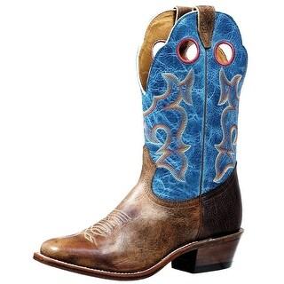 Boulet Western Boots Mens Roughstock Horseman Damasko Taupe 4736