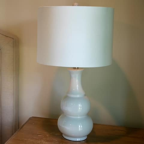 Copper Grove Arans Table Lamp with Off-white Drum Shade (26.5)