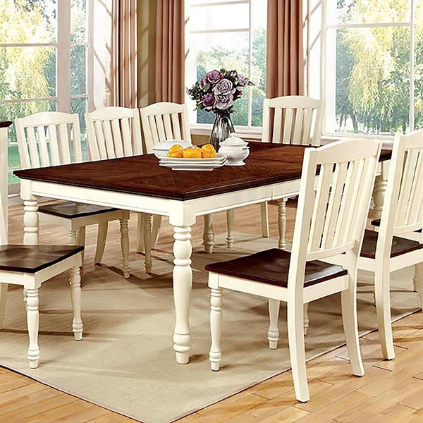 Furniture of America Bethannie Cottage Style 2-tone Dining Table. Opens flyout.