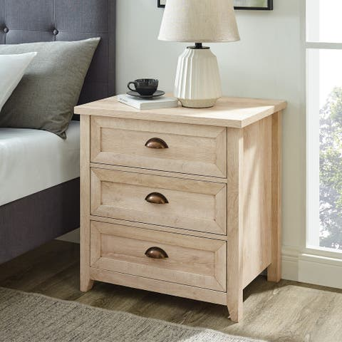 The Gray Barn 3 Drawer Farmhouse Nightstand