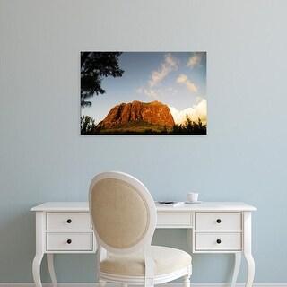 Easy Art Prints Anthony Asael's 'Rocky Cliff Sunset' Premium Canvas Art