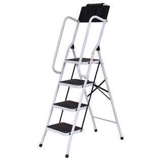 Fresh Folding Step Stool with Handrail