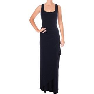 Alex Evenings Womens Dress With Jacket Matte Jersey Rhinestone Trim - 12