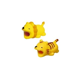 iPhone & Android Cable Protectors Animal Biters - 2pk Lion & Tiger