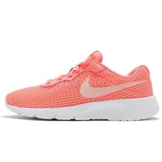 Nike Girl's Tanjun Shoe Sneakers 818384-602 - lt atomic pink/crimson tint/white
