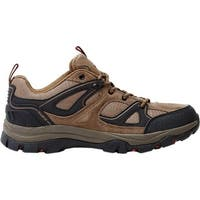 Nevados Men's Talus Low Hiking Shoe Chocolate Chip/Ginger Red Suede