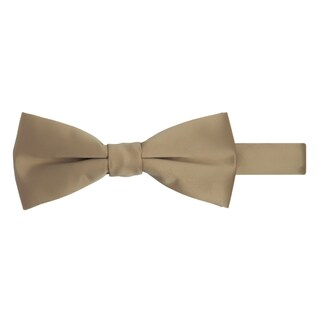 Jacob Alexander Men's Pretied Banded Adjustable Solid Color Bowtie - One size (Option: Tan)