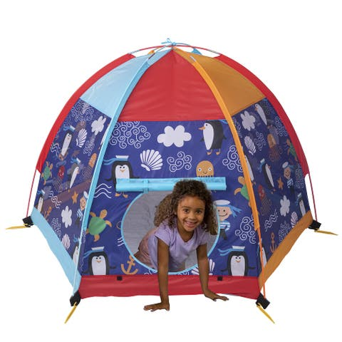 UTEX Dome Tent Playhouse,Kids Play Tent for Indoor or Outdoor Fun, Camping Tent for Boys and Girls (Sea Module)