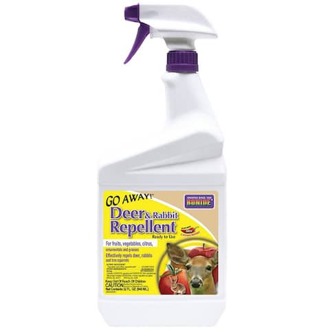 Bonide 230 Go Away Deer and Rabbit Repellent, Ready To Use, 1 Qt