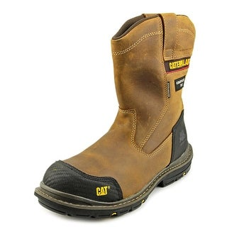 Caterpillar Fabricate Pull On Tough WP CT Men Leather Brown Work Boot