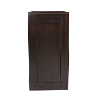 "Design House 613828 Brookings 24"" x 15"" Single Door Wall Cabinet - ESPRESSO - N/A"