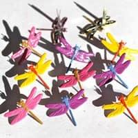 Dragonflies - Bright - Eyelet Outlet Shape Brads 12/Pkg