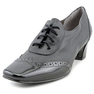 Auditions First Class Women N/S Square Toe Patent Leather Black Oxford