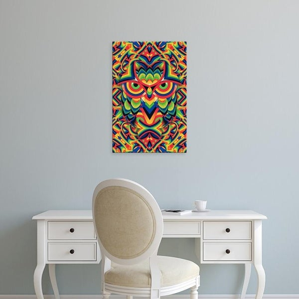 Easy Art Prints Ali Gulec's 'Owl' Premium Canvas Art
