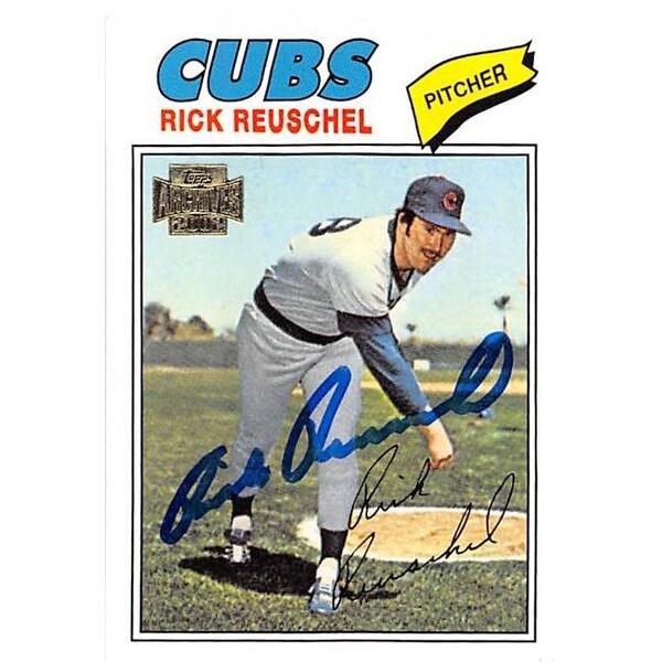 Rick Reuschel Autographed Baseball Card Chicago Cubs 2002 Topps