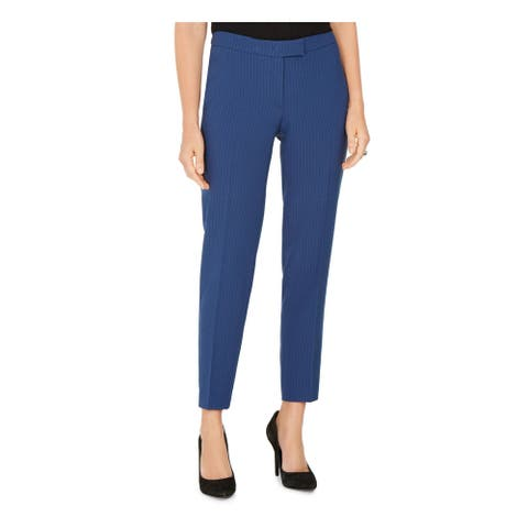 ANNE KLEIN Womens Blue Pinstripe Wear To Work Pants Size 0
