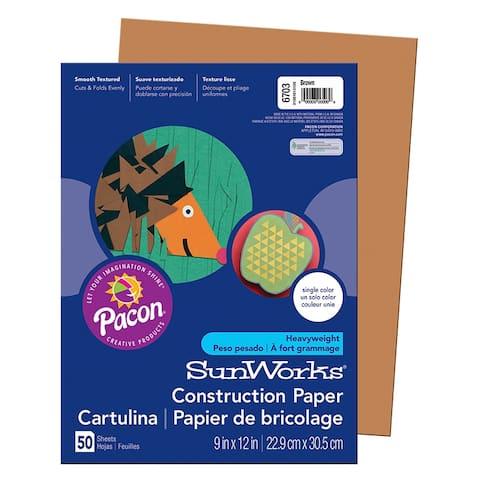 Sunworks (25 pk) construction paper brown 6703bn