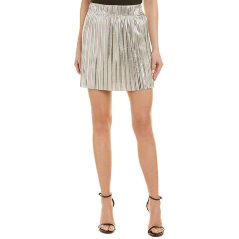 Etoile Isabel Marant Delpha High-Rise Metallic Short Skirt
