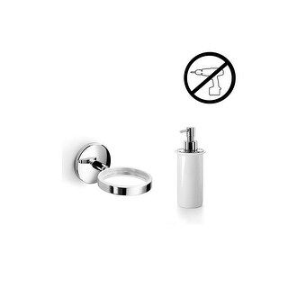 WS Bath Collections Noanta 53271+55006-G Wall Mounted Ceramic Soap Dispenser from the Noanta Glue Co