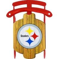 Pittsburgh Steelers Metal Sled Ornament