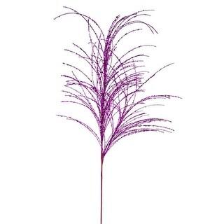 "29"" Decorative Purple Sparkle Berry Christmas Crafting Spray"
