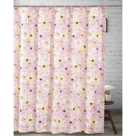 Greenland Home Fashions Misty Bloom Shower Curtain - 72 x 72 inches
