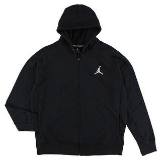 Jordan Mens Lite Full Zip Hoodie Black - XL