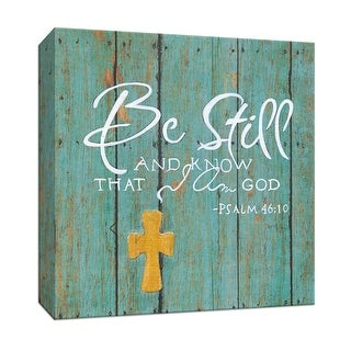 "PTM Images 9-147420  PTM Canvas Collection 12"" x 12"" - ""Be Still"" Giclee Sayings & Quotes Art Print on Canvas"
