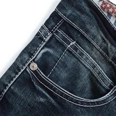 European Style New Fashion Straight Jeans Casual Slim Fit Pants