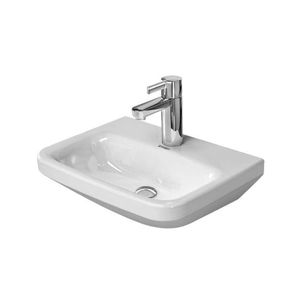 duravit 708450000 durastyle 17 34 ceramic wall mounted bathroom sink with single - Wall Mounted Bathroom Sink