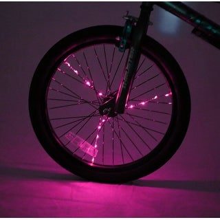 Spoke Brightz LED Bicycle Spoke Accessory, Pink - multi