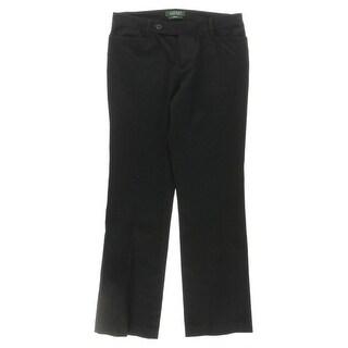 Lauren Ralph Lauren Womens Petites Adelle Dress Pants Ponte Slim Fit