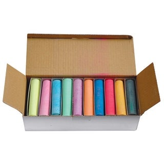Sargent Art Jumbo Non-Toxic Sidewalk Chalk, Bold Tip, Assorted Colors, Pack of 30