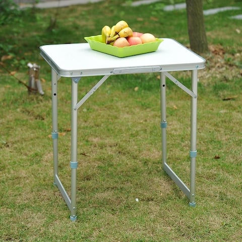 Outsunny 23-in. Folding Height-adjustable Aluminum Table