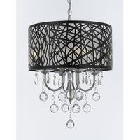 Indoor 4 Light Chrome & Crystal Chandelier Pendant with Crystal Balls