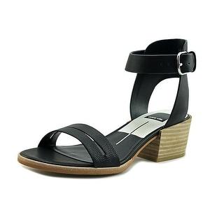 Dolce Vita Rae Women Open-Toe Leather Black Slingback Sandal