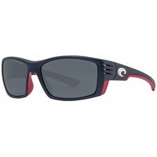 Costa Del Mar Cortez CZ112 OGP USA Edition Blue Gray 580P Polarized Sunglasses - blue matte - 61mm-17mm-116mm