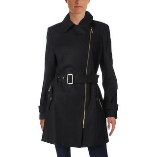 MICHAEL Michael Kors Womens Pea Coat Winter Wool Blend