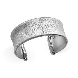 Textured-Finish Cuff Bracelet in Sterling Silver - White